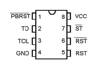 Figura 3: piedinatura del DS1232.