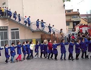 Figura 1: le prove e le simulazioni di evacuazione in una scuola