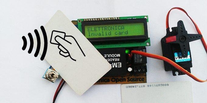Lettore rfid arduino compatibile progetto completo open