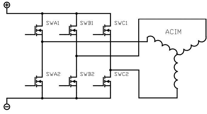 Figura 1: schema di principo di un inverter per motori ACIM.