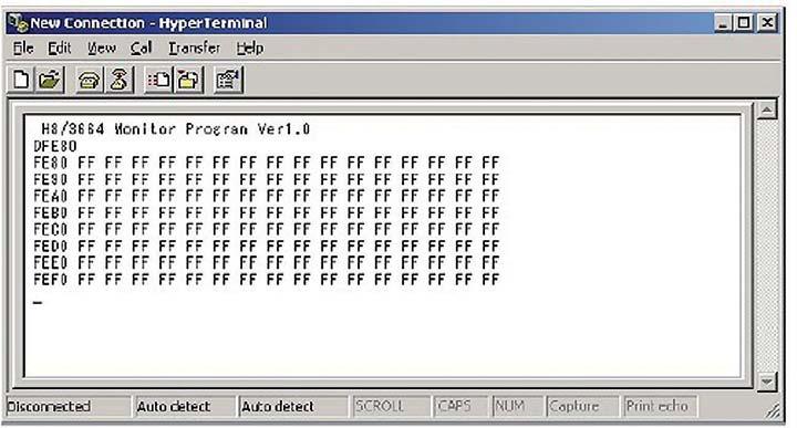 Figura 5: visualizzazione del comando e dell'indirizzo di memoria