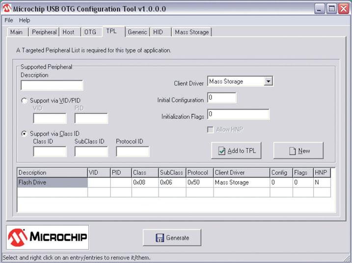 Figura 6: USB Config Tool - TPL.