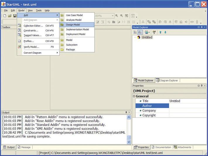 Figura 3: aggiunta di un nuovo modello al progetto creato.