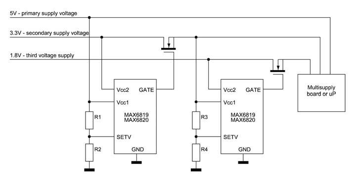 Figura 9: esempio di sequencing con controllo dedicato di ogni linea di alimentazione.