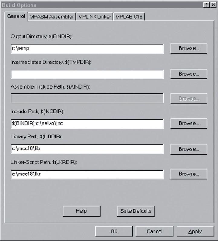 Figura 4: impostazioni di compilazione.