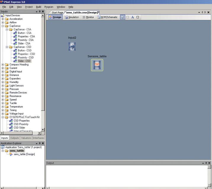 Figura 5: ogni oggetto di input dispone di un ulteriore oggetto che permette la configurazione dei principali parametri.