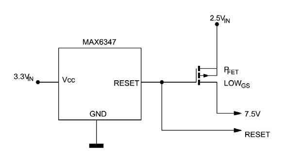 Figura 7: overvoltage supervisor utilizzato come controllo di tensioni negative.