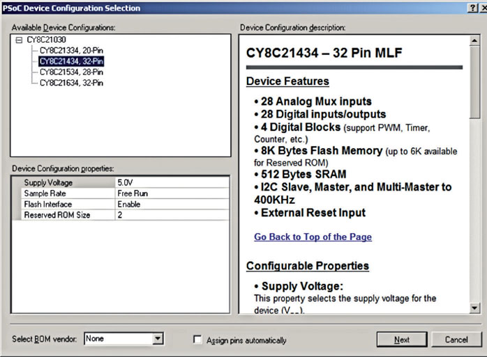 Figura 9: selezione del modello dal programmare.