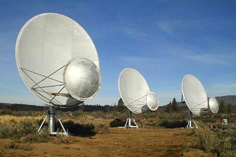 Figura 2: i telescopi per la ricerca della vita nell'universo