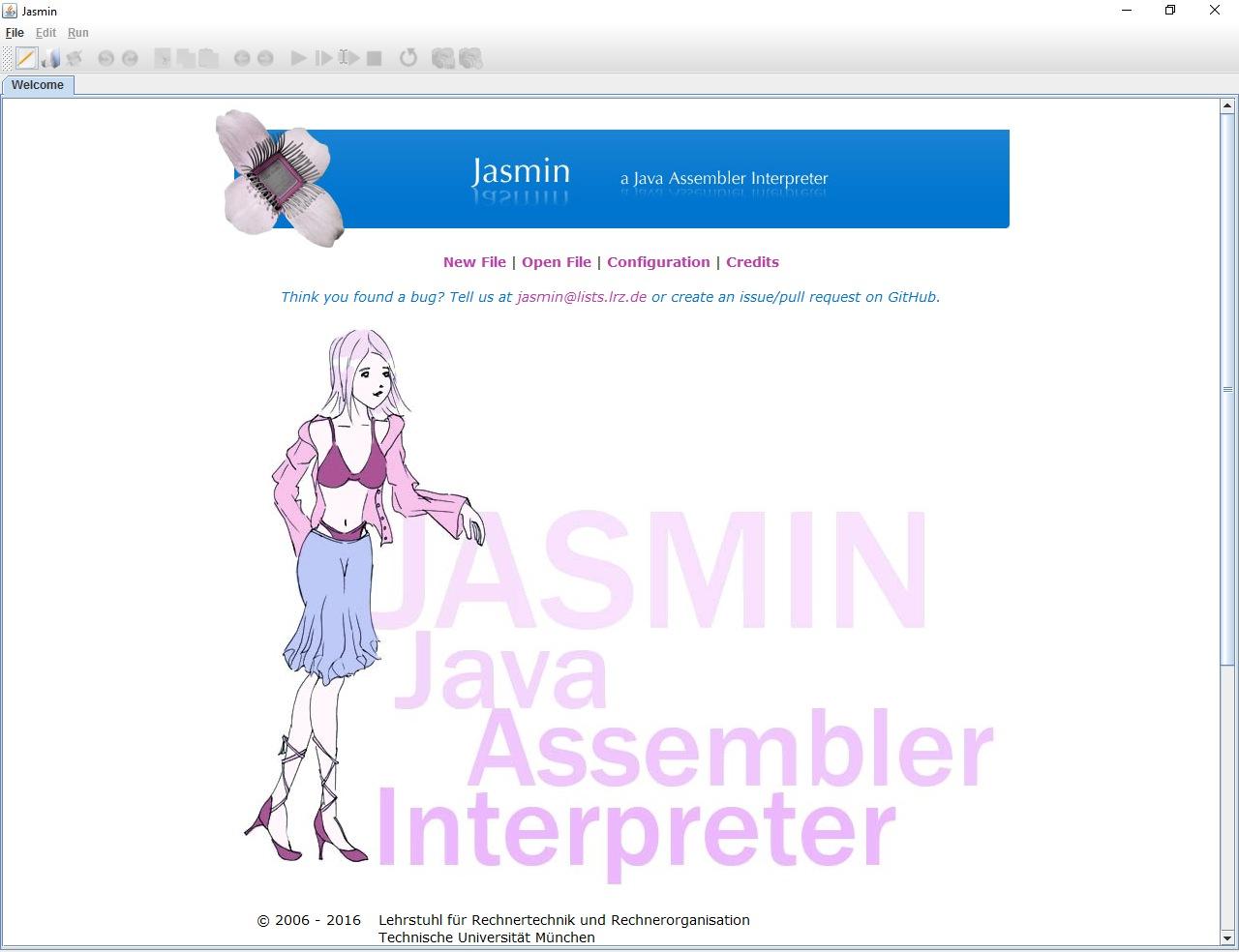 Figura 1: esecuzione di Jasmin