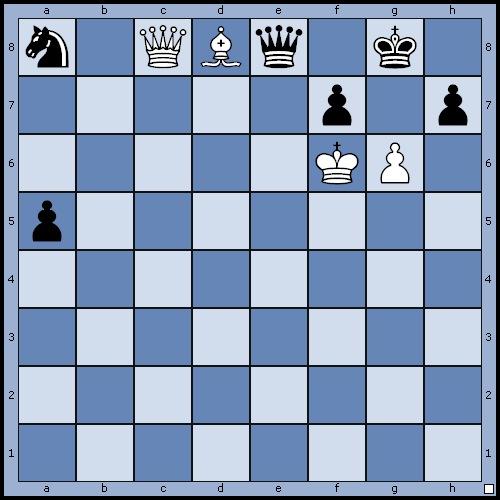 Figura 2: un problema di scacchi che solo pochi Motori Scacchistici riescono a risolvere