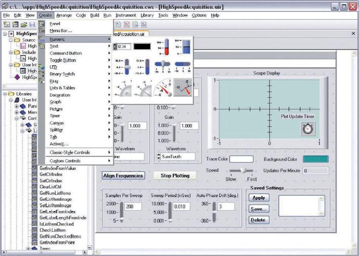 Figura 11: un progetto di esempio per LabWindows/CVI.