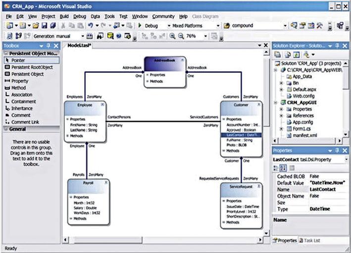 Figura 6: una schermata del software Microsoft Visual Modeler