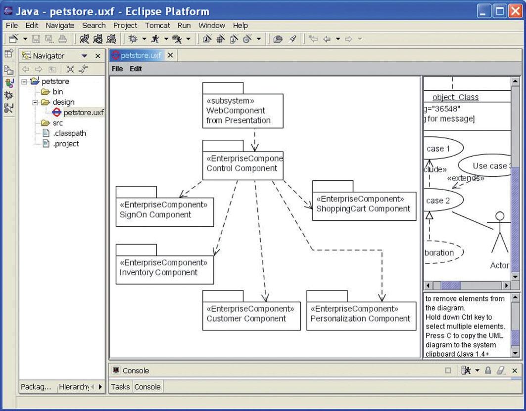 Figura 7: una schermata del software UMLet