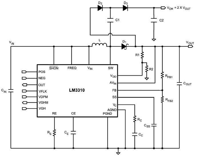 Figura 6: Boost Converter LM3310.