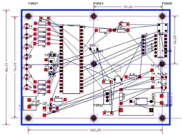 Figura 16: PCB alla fine del routing globale.