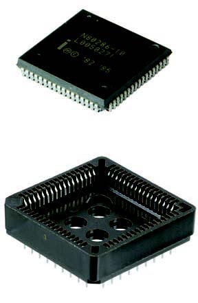 Figura 4: PLCC (Plastic Leaded Chip Carrier).