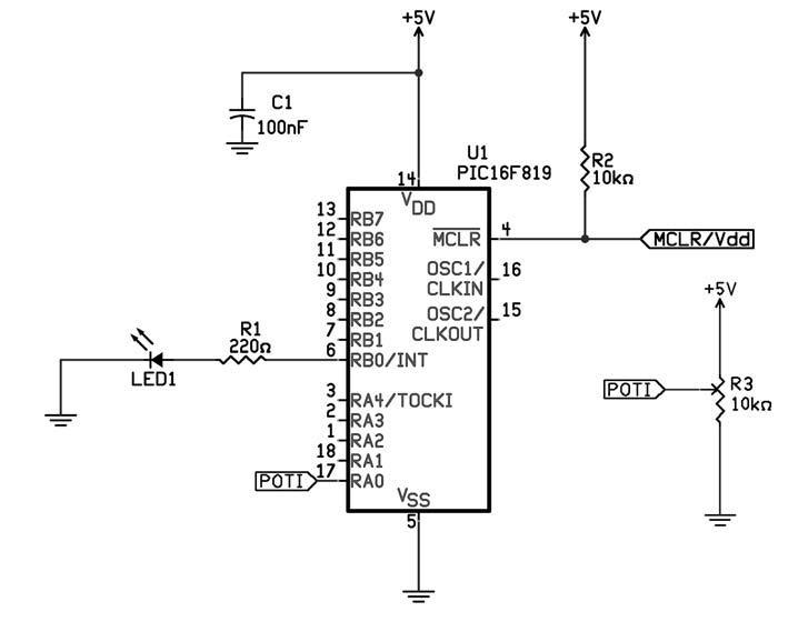 Figura 2: aggiunta del potenziometro per la variazione del duty-cycle.