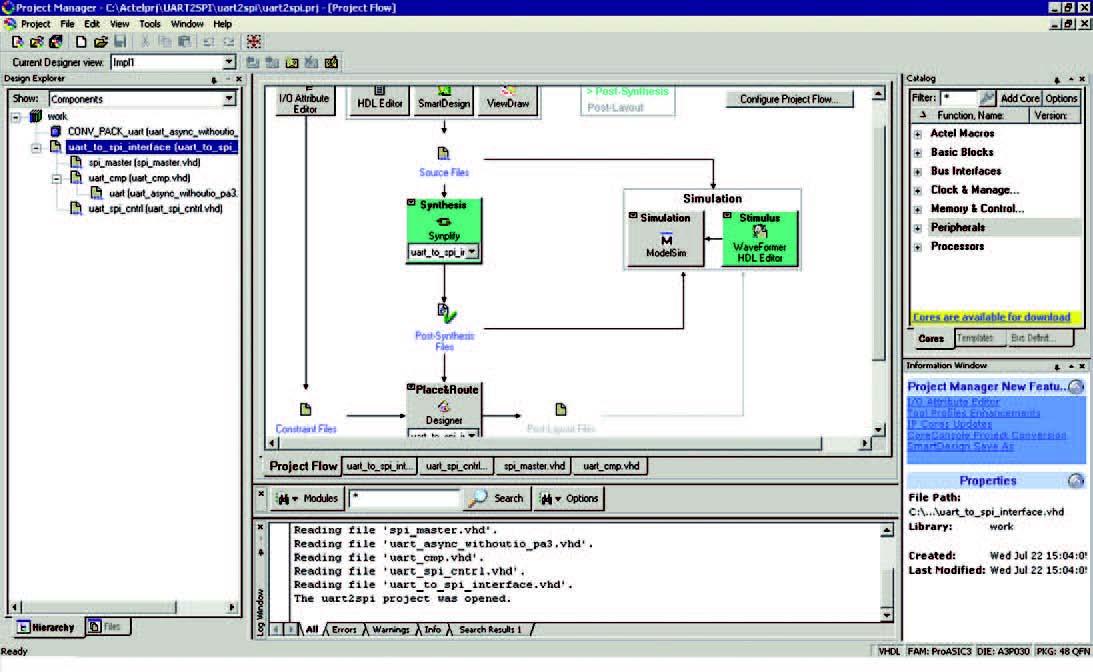 Figura 1: apertura del progetto Libero 8.5.