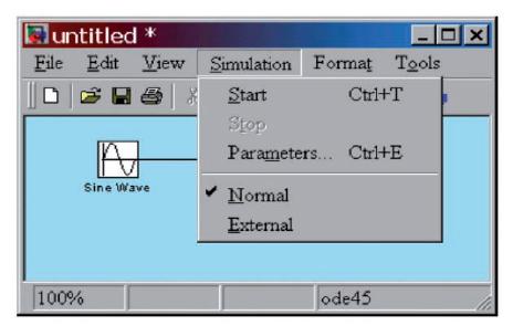Figura 10: avvio della simulazione.