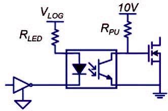 Figura 6: esempio di applicazione con fotoaccoppiatore.