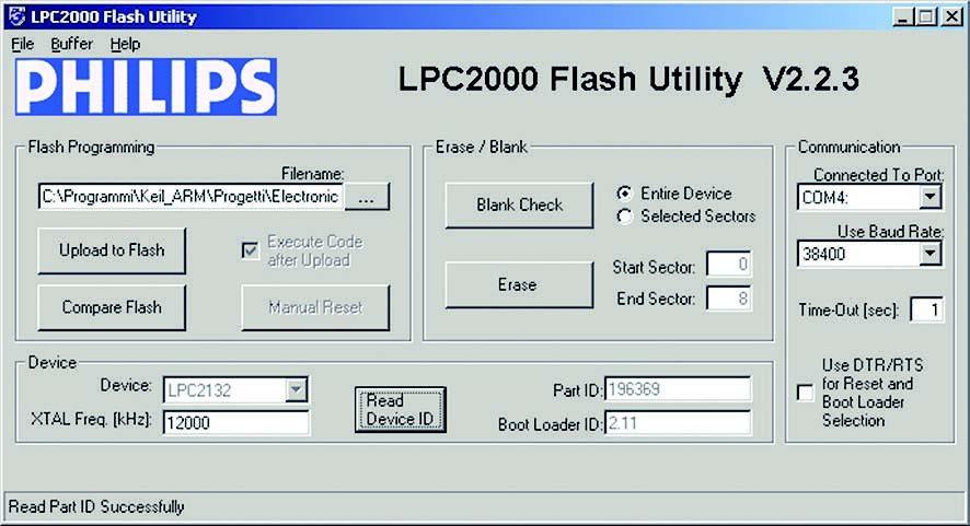 Figura 9: finestra della Flash ISP Utility.