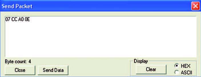Figura 8: finestra di dialogo relativa all'opzione Assemble Packet.