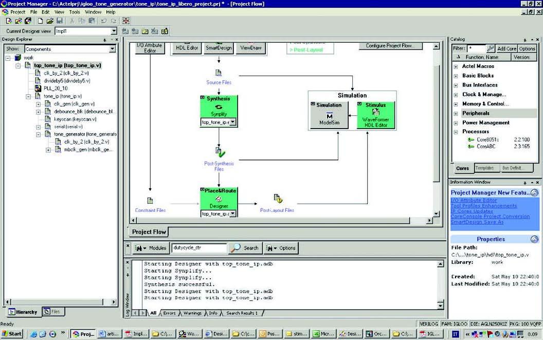 Figura 1: il file di progetto aperto in Libero 8.5.