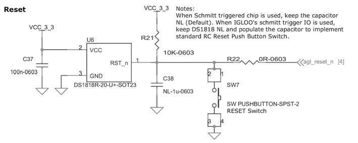 Figura 7: la funzione di Reset e supervisione di alimentazione viene gestita dal DS1818R-20.