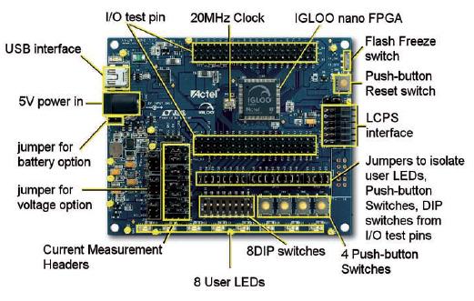 Figura 1: la scheda di sviluppo Igloo nano.