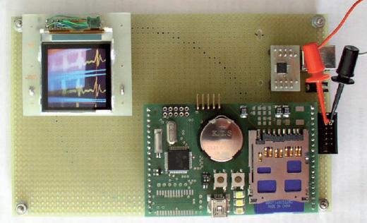 Figura 12: pilotaggio di un piccolo LCD a colori.