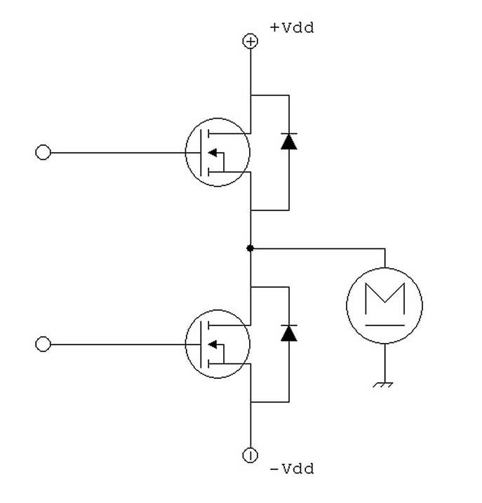 Figura 5: pilotaggio motore con alimentazione duale.