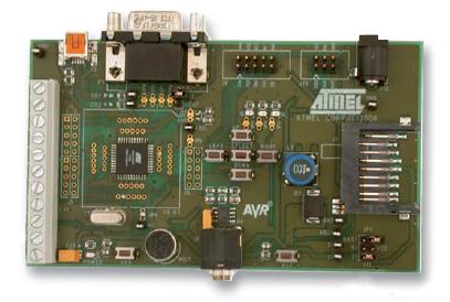 Figura 2: la scheda di sviluppo EVK527 per ATmega32U4.