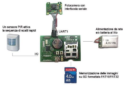 Figura 11: schema a blocchi di un sistema di sorveglianza.