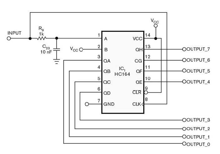 Figura 1: schema del circuito che consente di espandere la capacità di output.