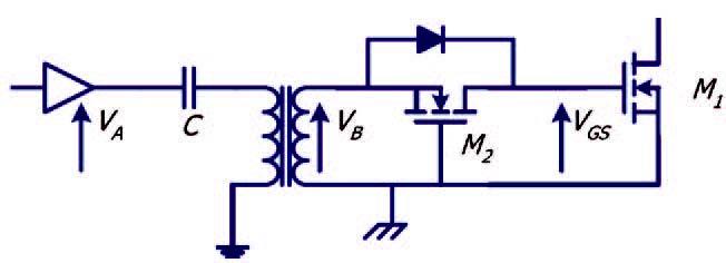 Figura 2: schema di principio di trasformatore saturato.