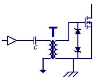 Figura 1: schema di principio di trasformatore in linearità.