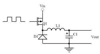 Figura 3: schema di principio di un convertitore buck