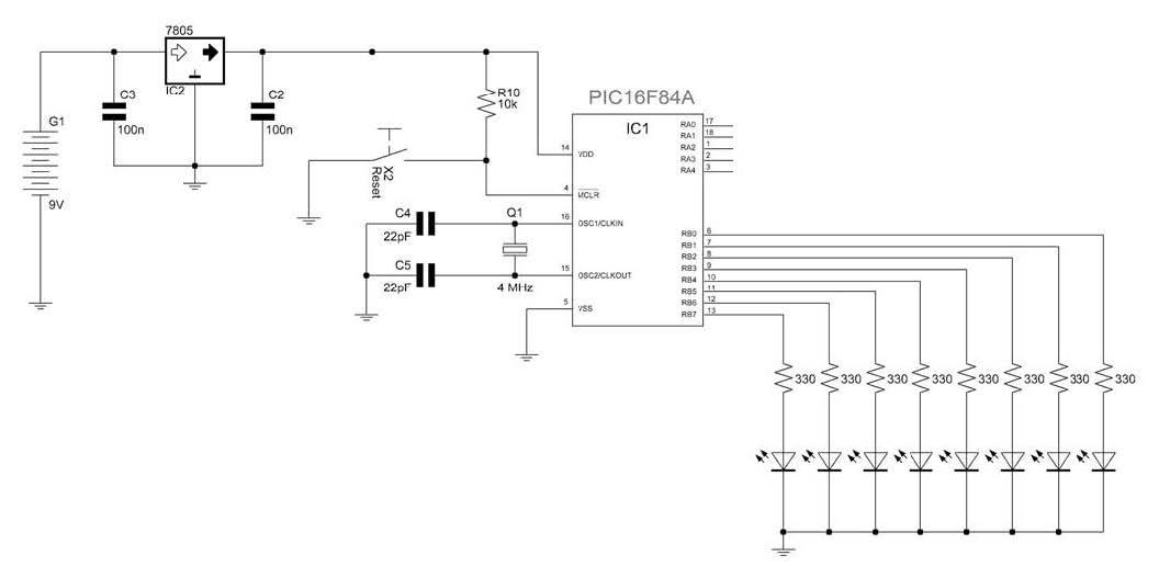 Figura 1: schema elettrico della prova di velocità (prova numero 1).
