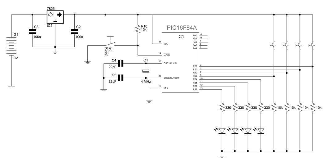 Figura 4: schema elettrico (prova numero 2).