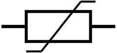 Figura 8: simbolo elettrico del varistore.