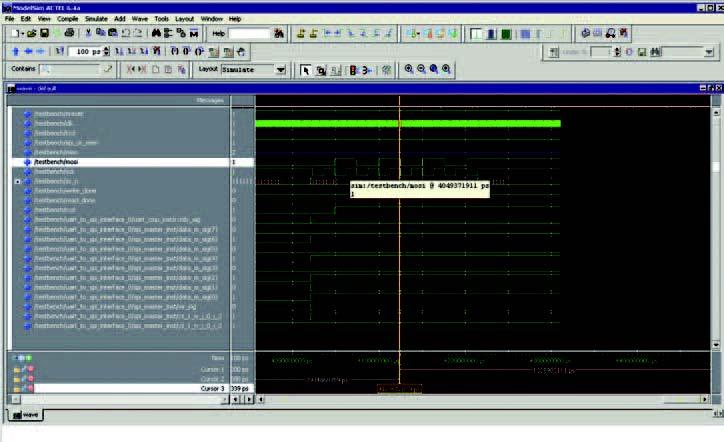 Figura 5: il simulatore per l'analisi dei parametri e delle tempistiche