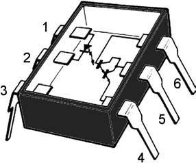 Figura 11: spaccato di un fotoaccoppiatore.