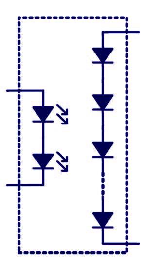 Figura 7: struttura di un isolatore fotovoltaico.