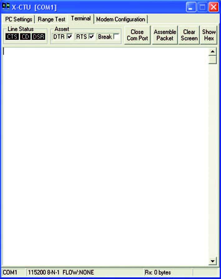 Figura 7: tab Terminal.