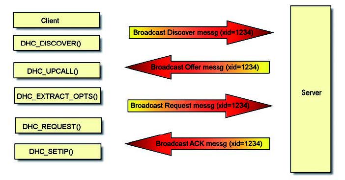 Figura 6: transazione DHCP.