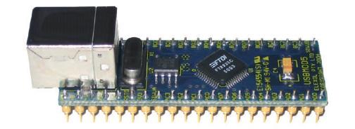 Figura 3: un modulo DIP40 basato sul FT232BM.