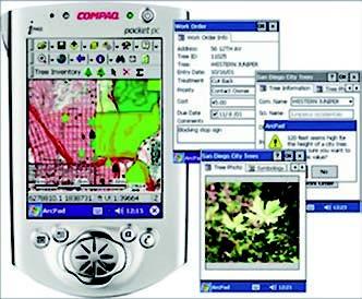Figura 1: un navigatore GPS in funzione su un PDA.