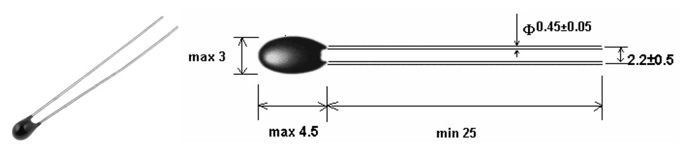 Figura 1: misure dell'NTCM-HP-10K