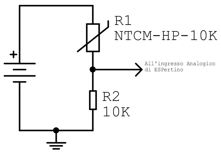Figura 5: un possibile utilizzo dell'NTC con ESPertino